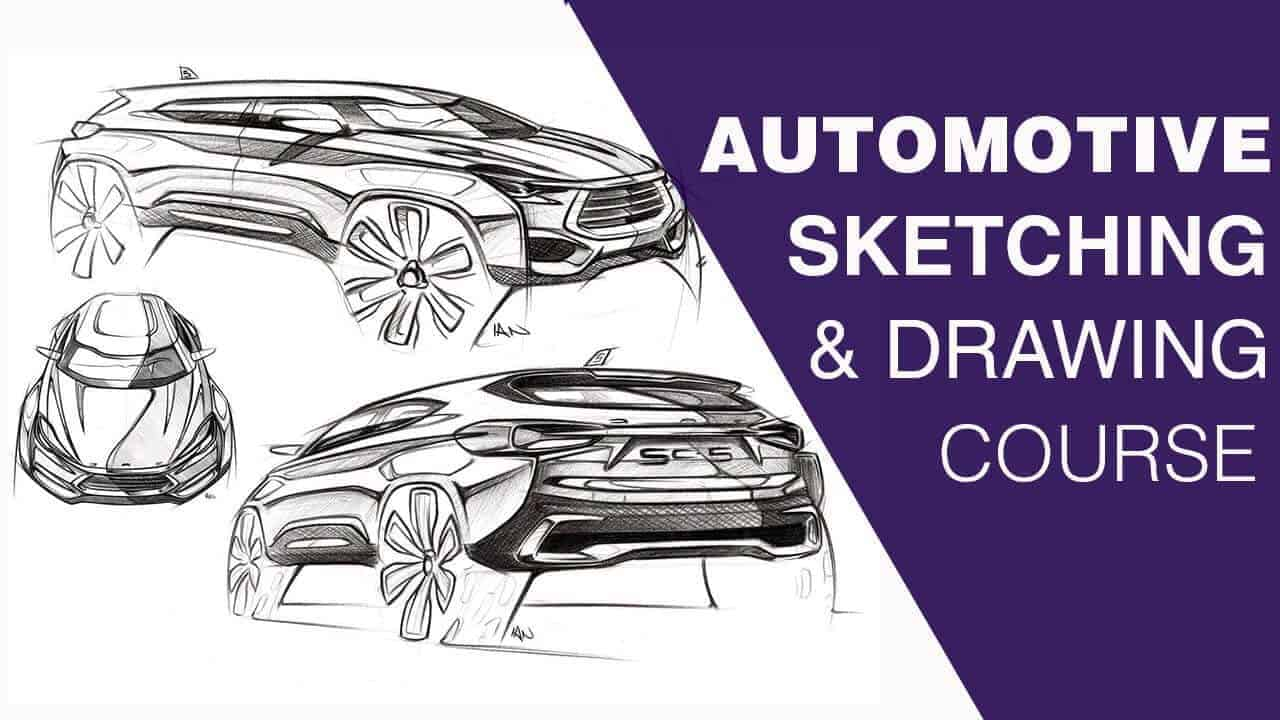 Automotive sketching and drawing course