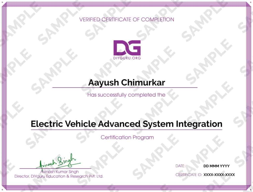 Electric Vehicle Advanced System Integration Certification